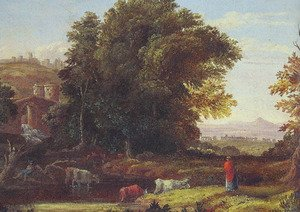 Reproduction oil paintings - George Inness - Italian Lanscape With Adueduct