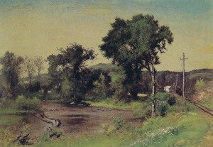 Reproduction oil paintings - George Inness - Pompton Junction