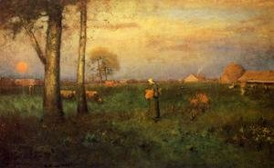 Reproduction oil paintings - George Inness - Sundown