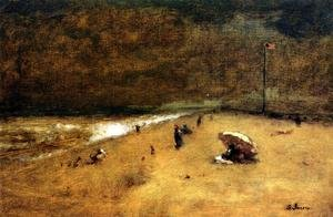 Reproduction oil paintings - George Inness - Along The Jersey Shore