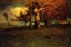Reproduction oil paintings - George Inness - Early Autumn  Montclair