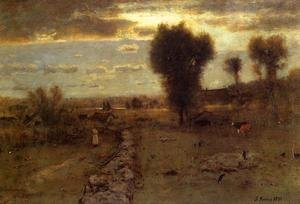 Reproduction oil paintings - George Inness - The Clouded Sun