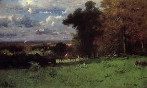 Reproduction oil paintings - George Inness - A Breezy Autumn