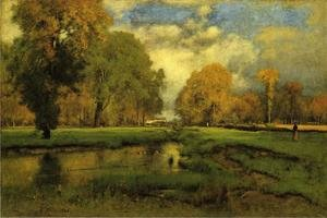 Reproduction oil paintings - George Inness - October