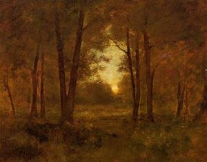 Reproduction oil paintings - George Inness - Sundown Near Montclair