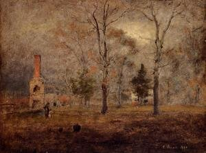 Reproduction oil paintings - George Inness - Gray Day  Goochland  Virgnia