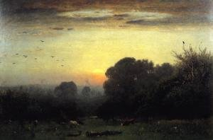 Reproduction oil paintings - George Inness - Morning