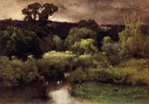 Reproduction oil paintings - George Inness - A Gray  Lowery Day