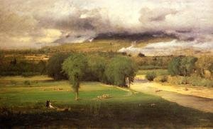 Reproduction oil paintings - George Inness - Sacco Ford  Conway Meadows