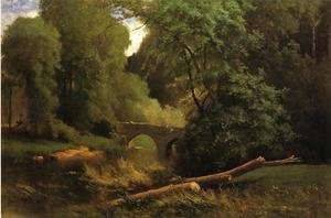 Reproduction oil paintings - George Inness - Cromwell's Bridge