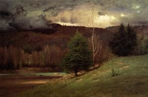 Reproduction oil paintings - George Inness - Kearsarge Village