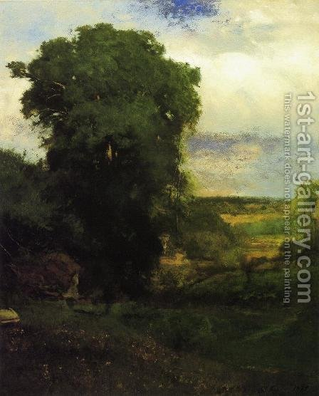 Midsummer by George Inness - Reproduction Oil Painting