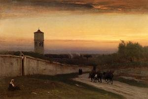 Reproduction oil paintings - George Inness - Twilight