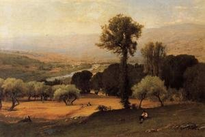 Reproduction oil paintings - George Inness - The Perugian Valley