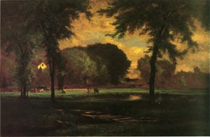 Reproduction oil paintings - George Inness - The Pasture