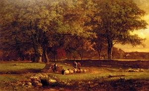 Reproduction oil paintings - George Inness - Evening