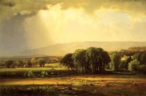 Reproduction oil paintings - George Inness - Harvest Scene In The Delaware Valley