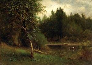 Reproduction oil paintings - George Inness - River Landscape
