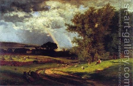 A Passing Shower by George Inness - Reproduction Oil Painting