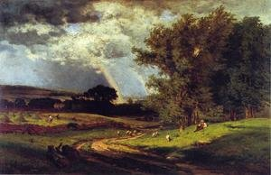 Reproduction oil paintings - George Inness - A Passing Shower