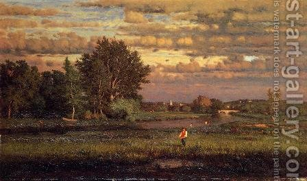 George Inness: Clearing Up - reproduction oil painting