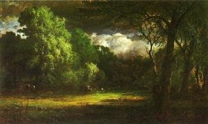 Reproduction oil paintings - George Inness - Medfield  Massachusetts
