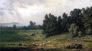 Reproduction oil paintings - George Inness - Landscape With Sheep