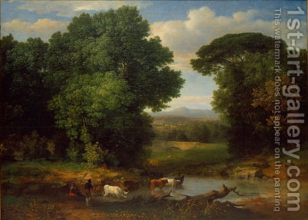 George Inness: A Bit Of Roman Aqueduct - reproduction oil painting