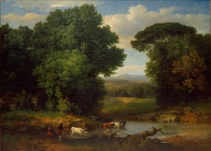 Famous paintings of Trees: A Bit Of Roman Aqueduct