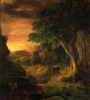 Reproduction oil paintings - George Inness - In The Berkshires