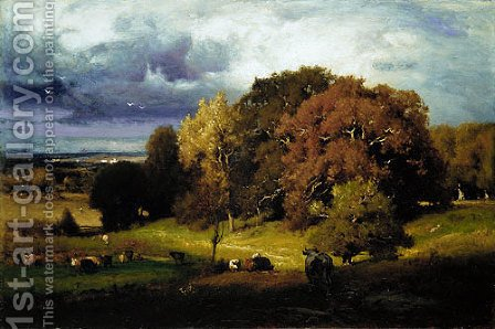 George Inness: Autumn Oaks - reproduction oil painting