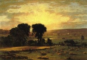Reproduction oil paintings - George Inness - Peace And Plenty