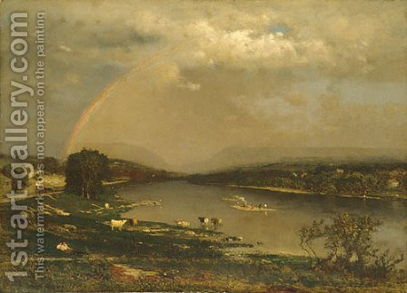 George Inness: Delaware Water Gap - reproduction oil painting