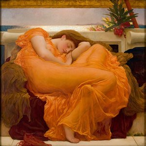 Academic Classicism painting reproductions: Flaming June