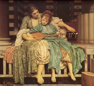 Lord Frederick Leighton reproductions - Music Lesson