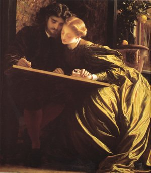 Academic Classicism painting reproductions: The Painter's Honeymoon