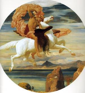 Famous paintings of Horses & Horse Riding: Perseus On Pegasus Hastening To The Rescue Of Andromeda