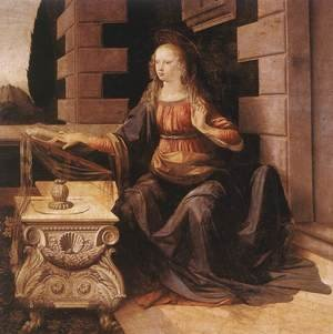 Reproduction oil paintings - Leonardo Da Vinci - Annunciation (detail 2) 1472-75