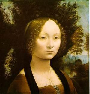 Reproduction oil paintings - Leonardo Da Vinci - Portrait of Ginevra de' Benci 1474-46