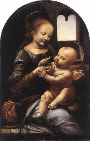 Reproduction oil paintings - Leonardo Da Vinci - Madonna with a Flower (Madonna Benois) c. 1478