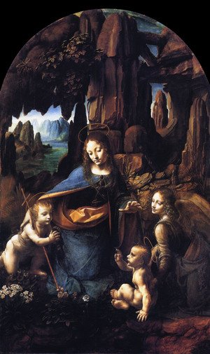 Reproduction oil paintings - Leonardo Da Vinci - Virgin of the Rocks 1495-1508