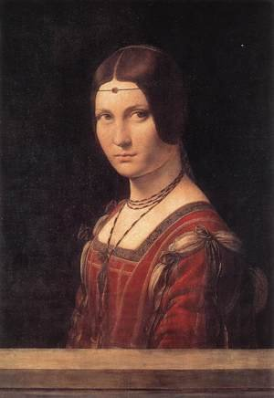 Reproduction oil paintings - Leonardo Da Vinci - La belle Ferroniere c. 1490