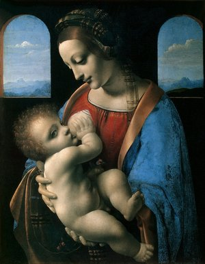 Reproduction oil paintings - Leonardo Da Vinci - Madonna Litta c. 1490-91