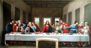 Famous paintings of Religion & Philosophy: The Last Supper 1498