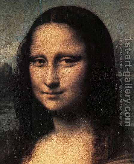 Leonardo Da Vinci: Mona Lisa  Detail - reproduction oil painting