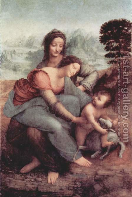 Leonardo Da Vinci: The Virgin and Child with St Anne c. 1510 - reproduction oil painting