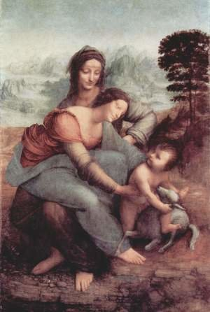 Reproduction oil paintings - Leonardo Da Vinci - The Virgin and Child with St Anne c. 1510