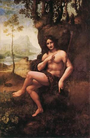 Reproduction oil paintings - Leonardo Da Vinci - St John in the Wilderness (Bacchus) 1510-15