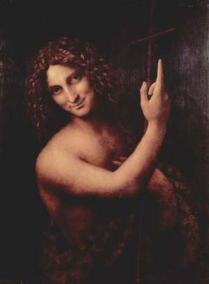 Reproduction oil paintings - Leonardo Da Vinci - St John the Baptist 1513-16