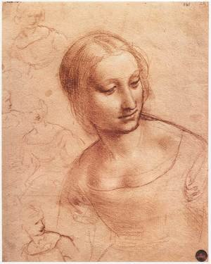Reproduction oil paintings - Leonardo Da Vinci - Study For Madonna With The Yarnwinder